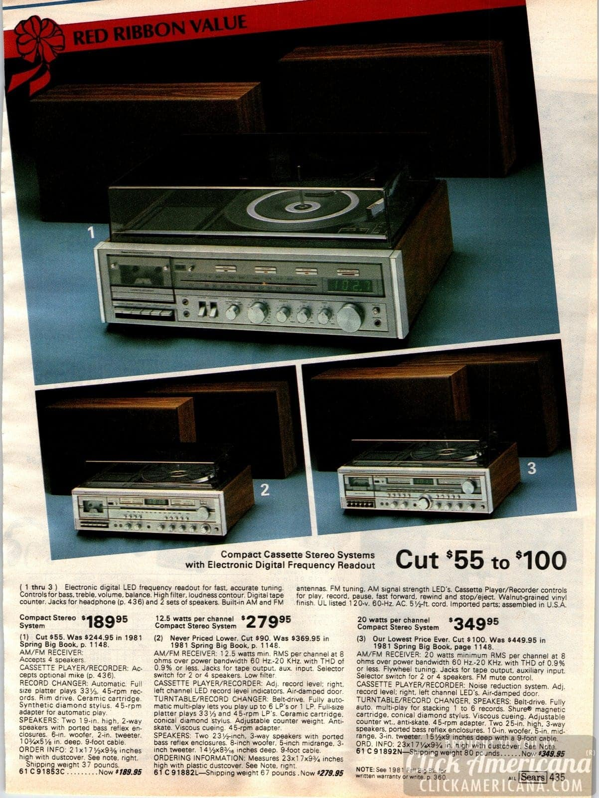 Compact cassette stereo systems from the '80s that feature turntables and cassette decks