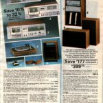Complete stereo component systems - 25-watt receiver, record changer, cassette deck, speakers and stereo stand