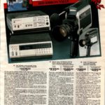 Home video! Color TV camera with electronic viewfinder, and video cassette recorders