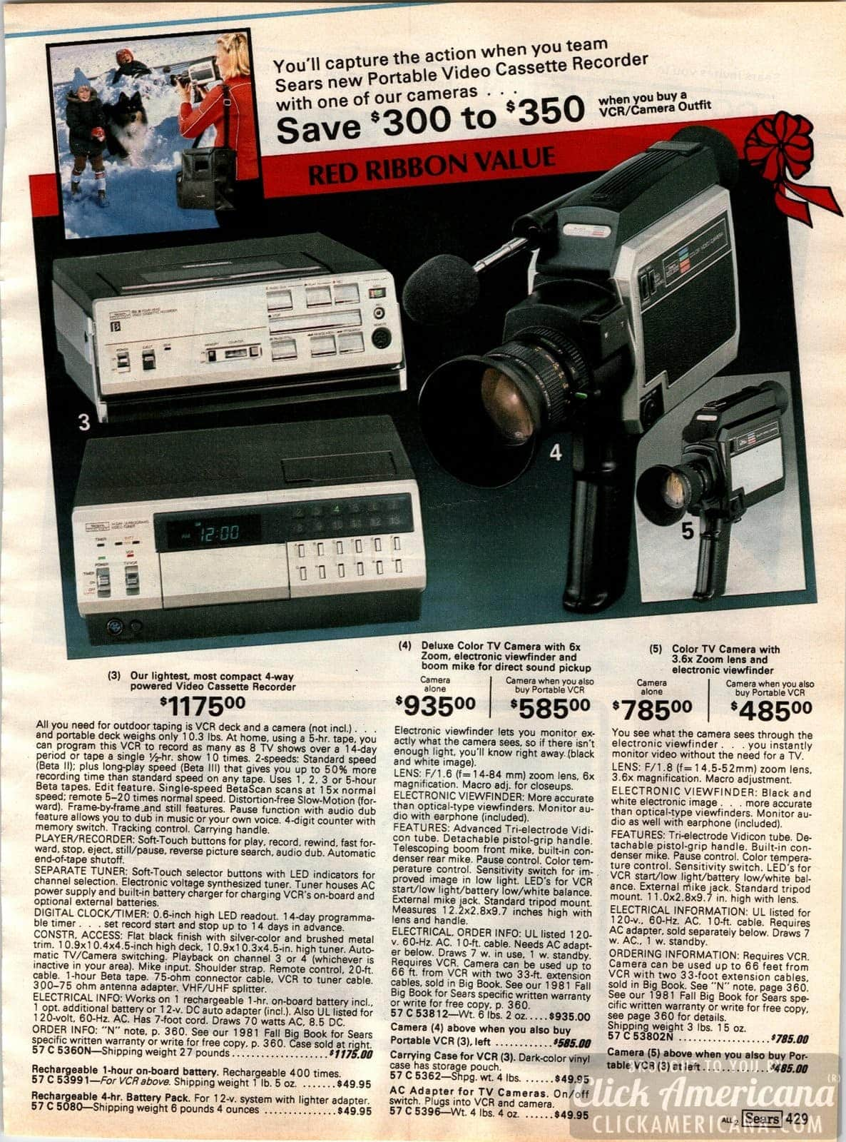Retro stereos, tech & '80s electronics from the 1981 Sears catalog