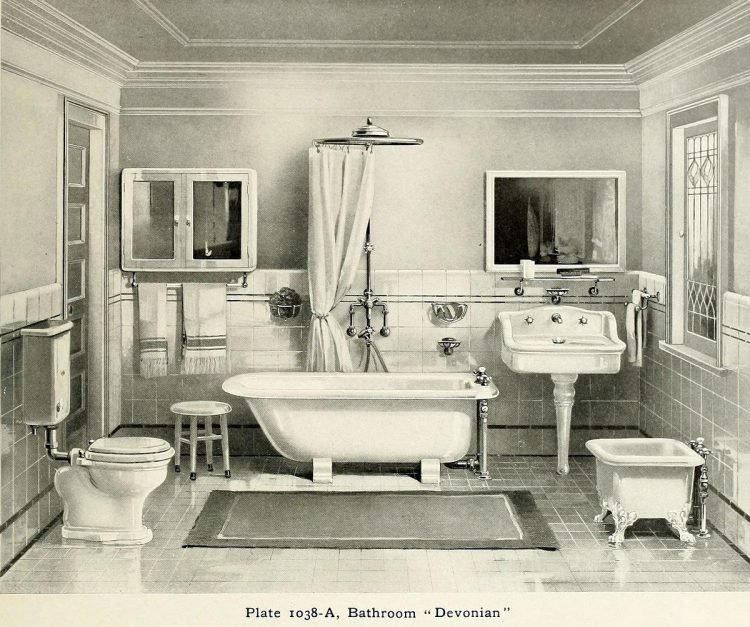 Elegant antique bathrooms 1900s (1)