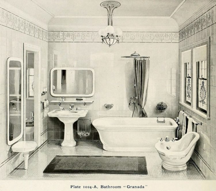 Elegant antique bathrooms 1900s (10)