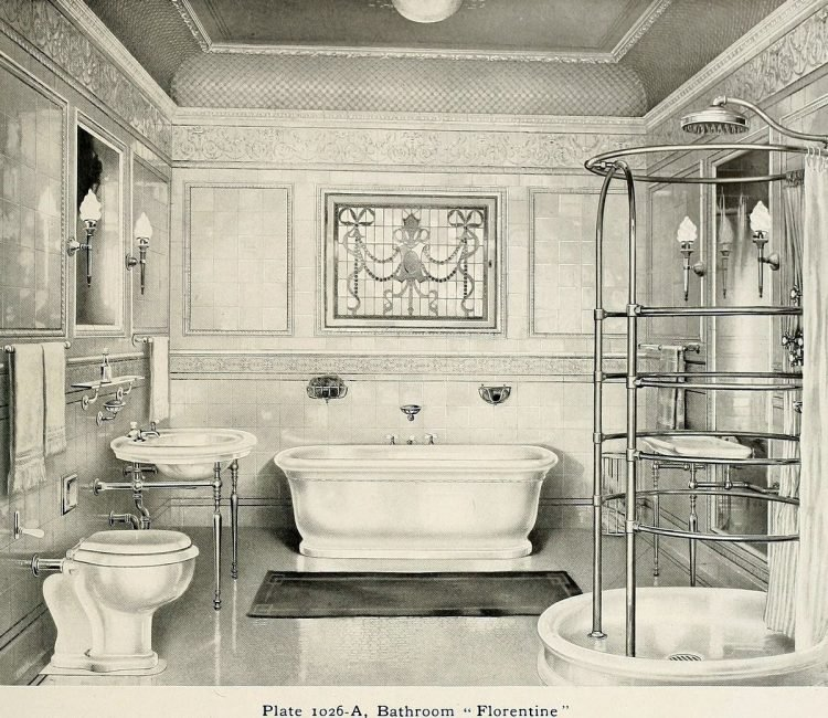 Elegant antique bathrooms 1900s (11)