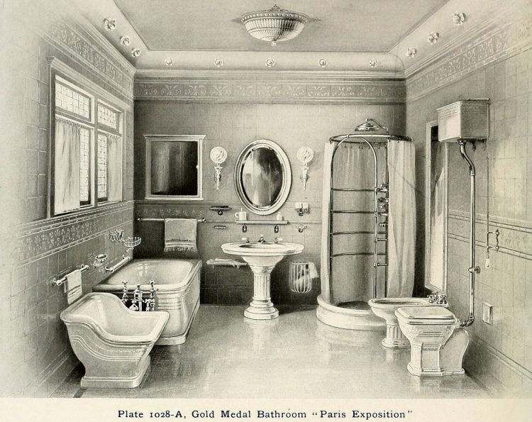 Elegant antique bathrooms 1900s (12)