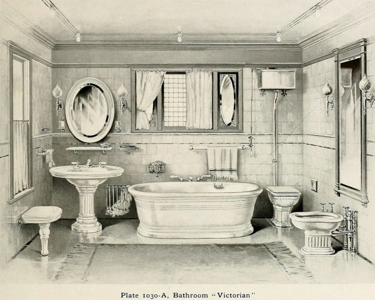 Victorian vintage bathroom suite
