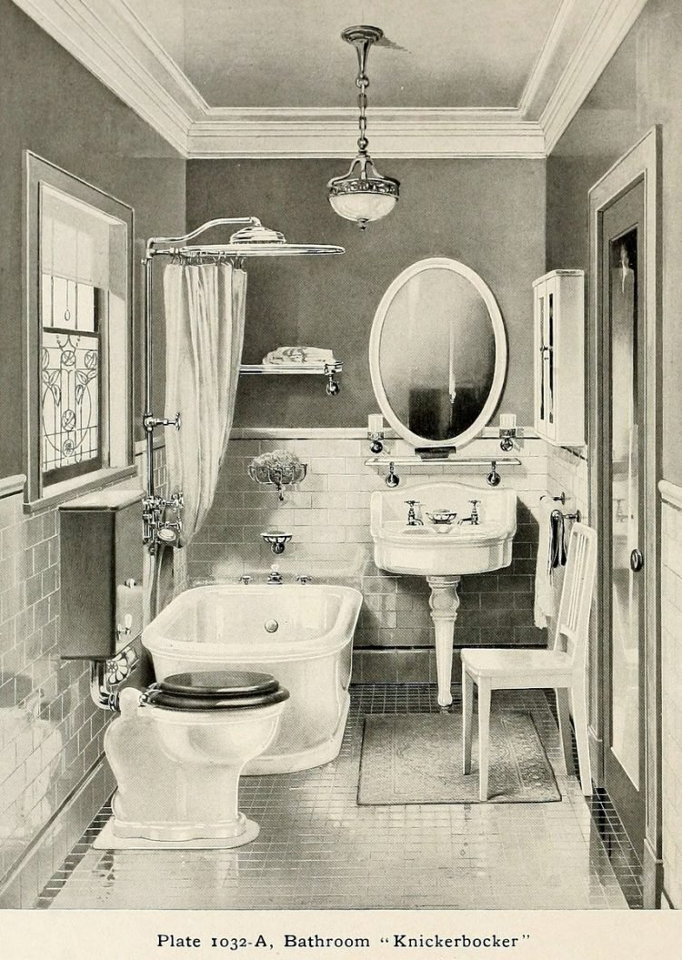 Elegant antique bathrooms 1900s (14)