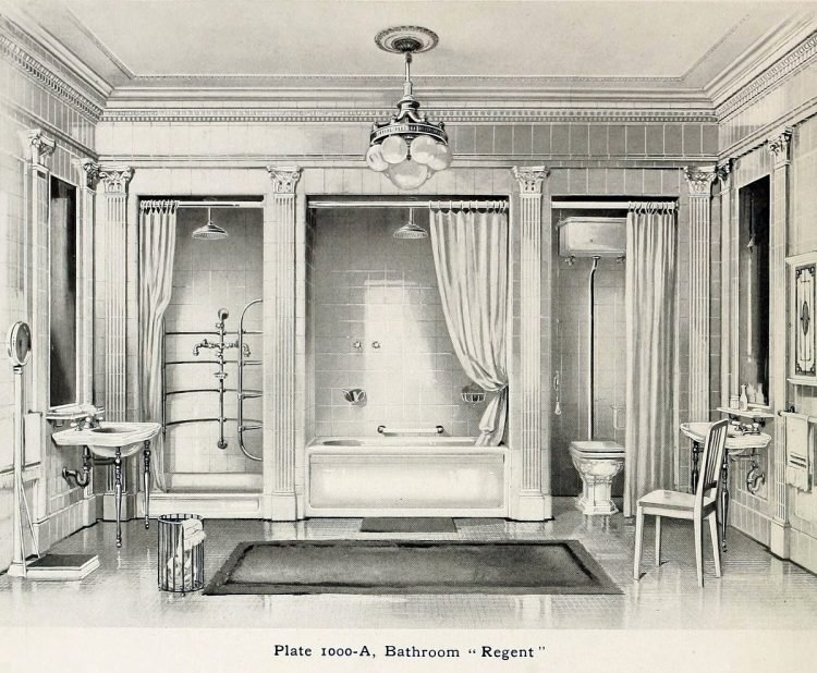 Elegant antique bathrooms 1900s (2)