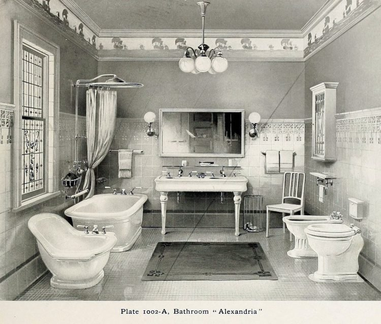 Elegant antique bathrooms 1900s (3)