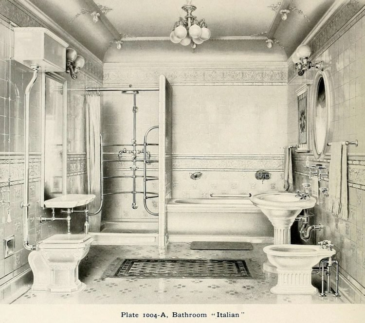 Italian style vintage bathroom suite