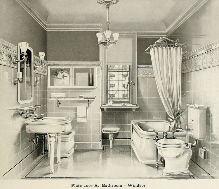 Windsor style vintage bathroom suite