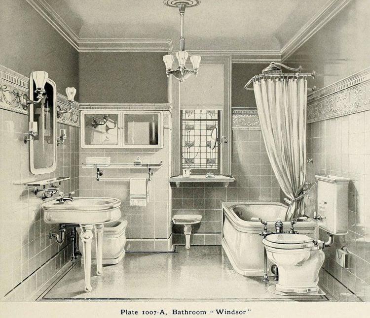 Windsor style vintage bathroom suite