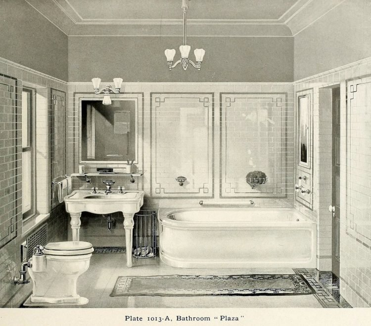 Plaza vintage bathroom suite