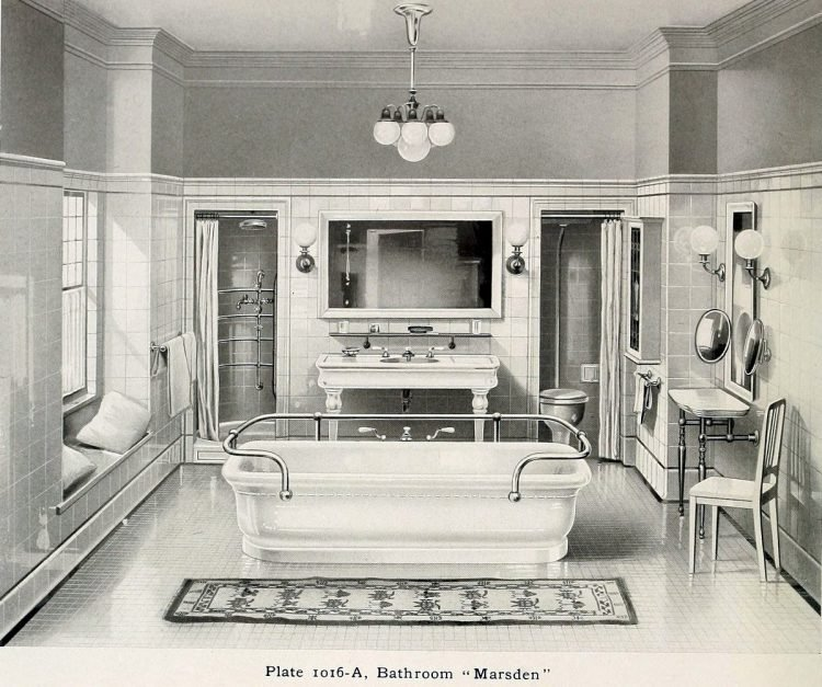 Elegant antique bathrooms 1900s (7)
