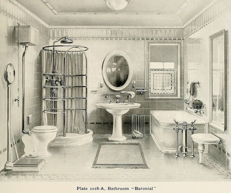 Elegant antique bathrooms 1900s (8)