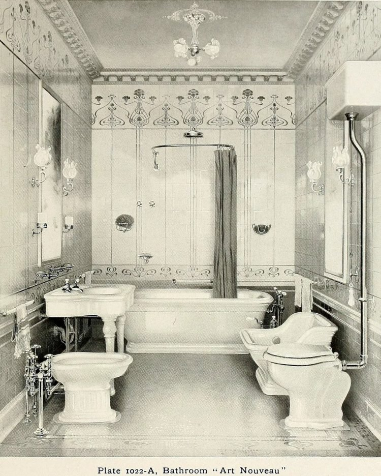 Elegant antique bathrooms 1900s (9)