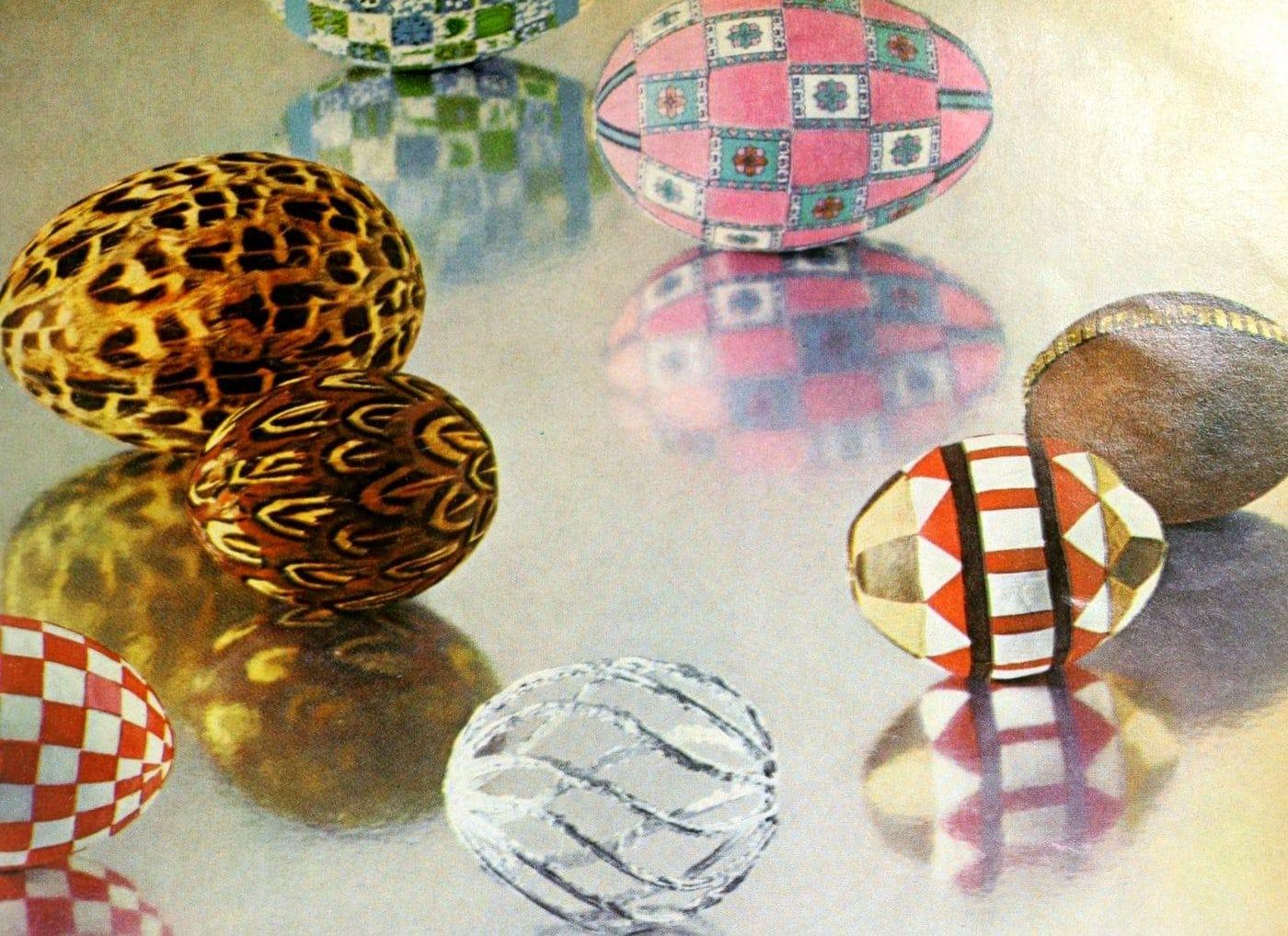 Elegant egg crafts from 1969