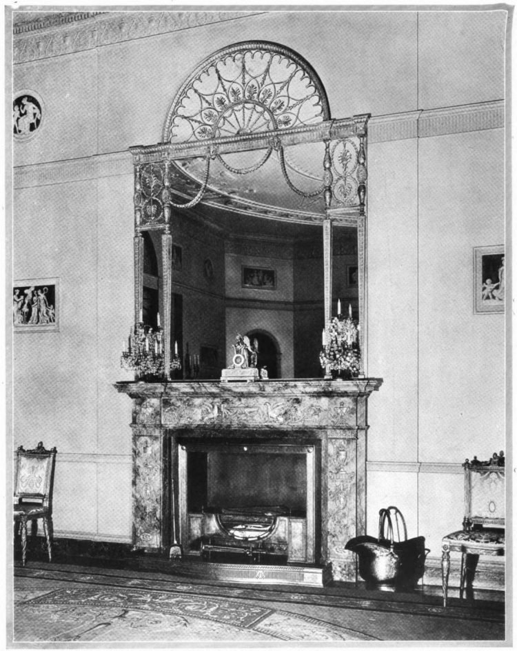 Elegant mirrored fireplace from 1920