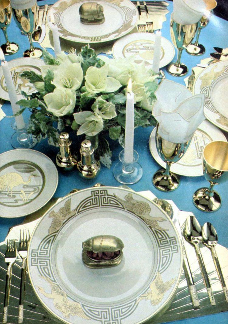 Elegant table settings from 1978