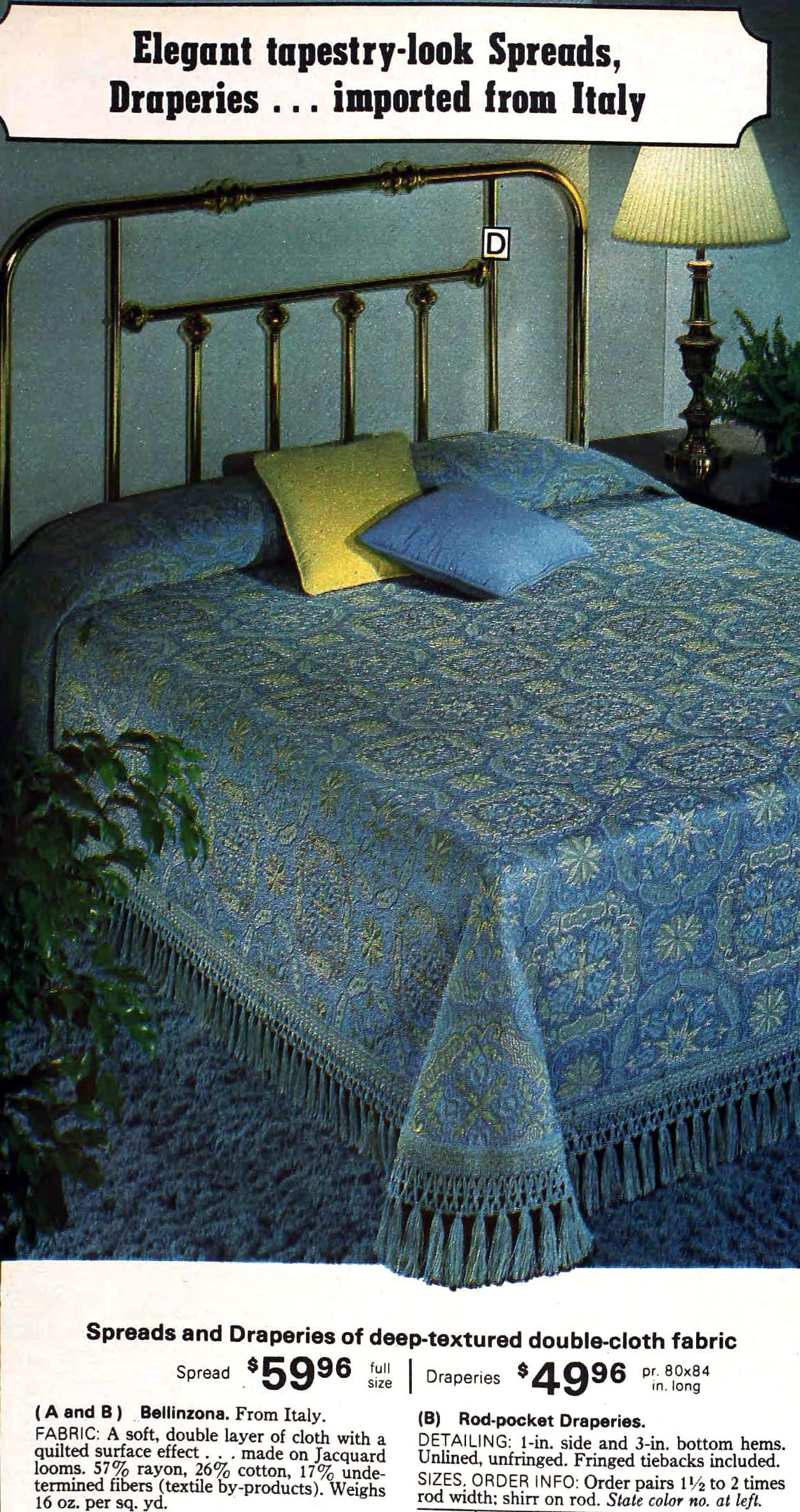 Elegant tapestry-look spreads from the 1970s