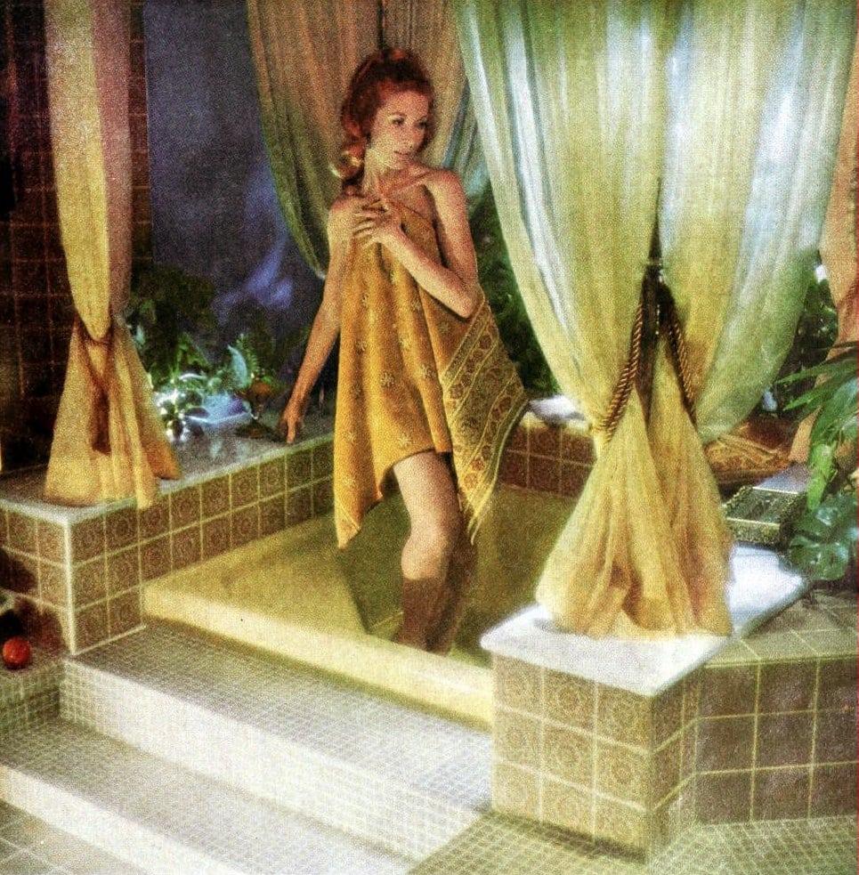 Elevated bath platform - Vintage bathroom from 1967