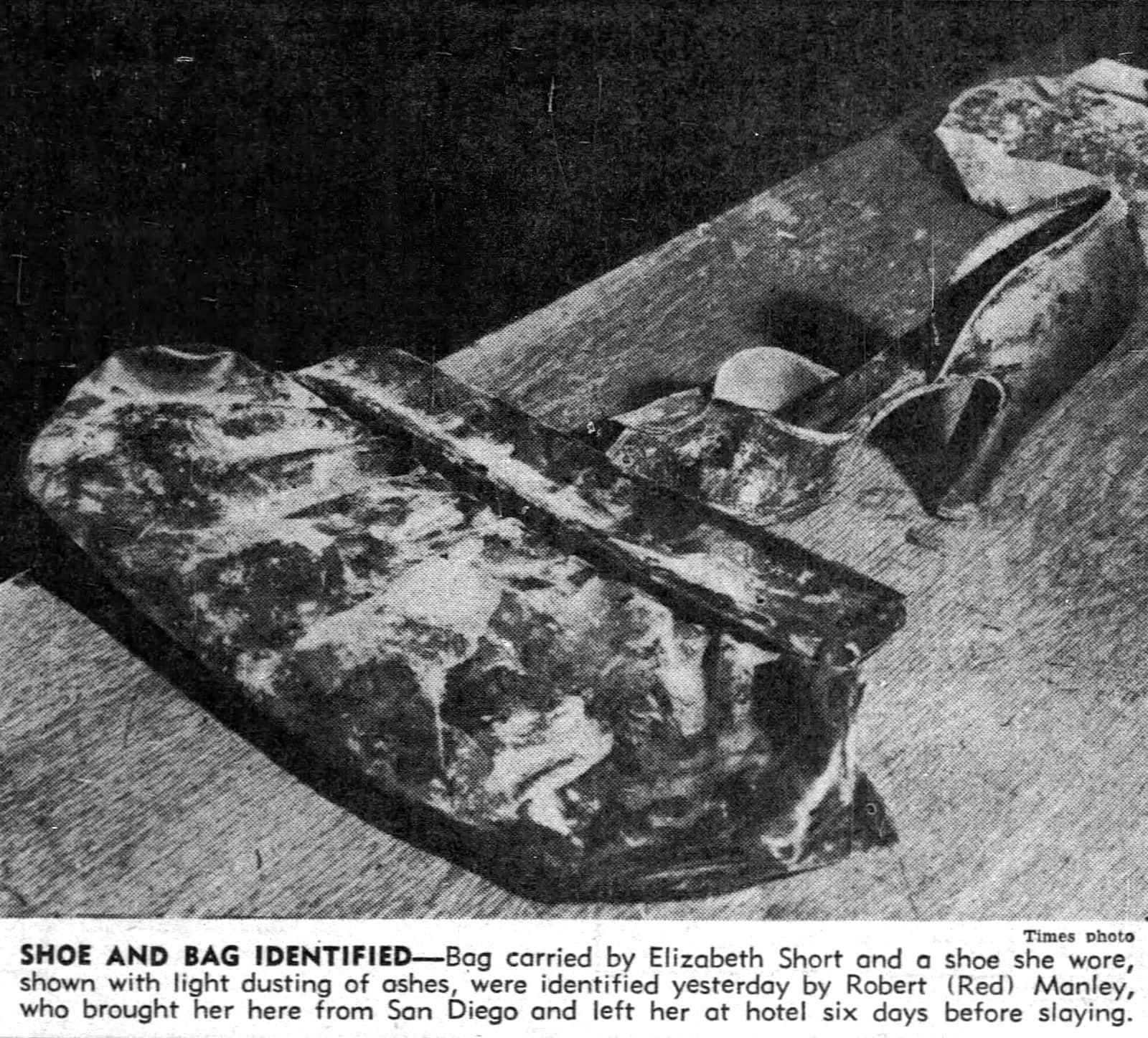 Elizabeth Short murder victim - Purse and shoe