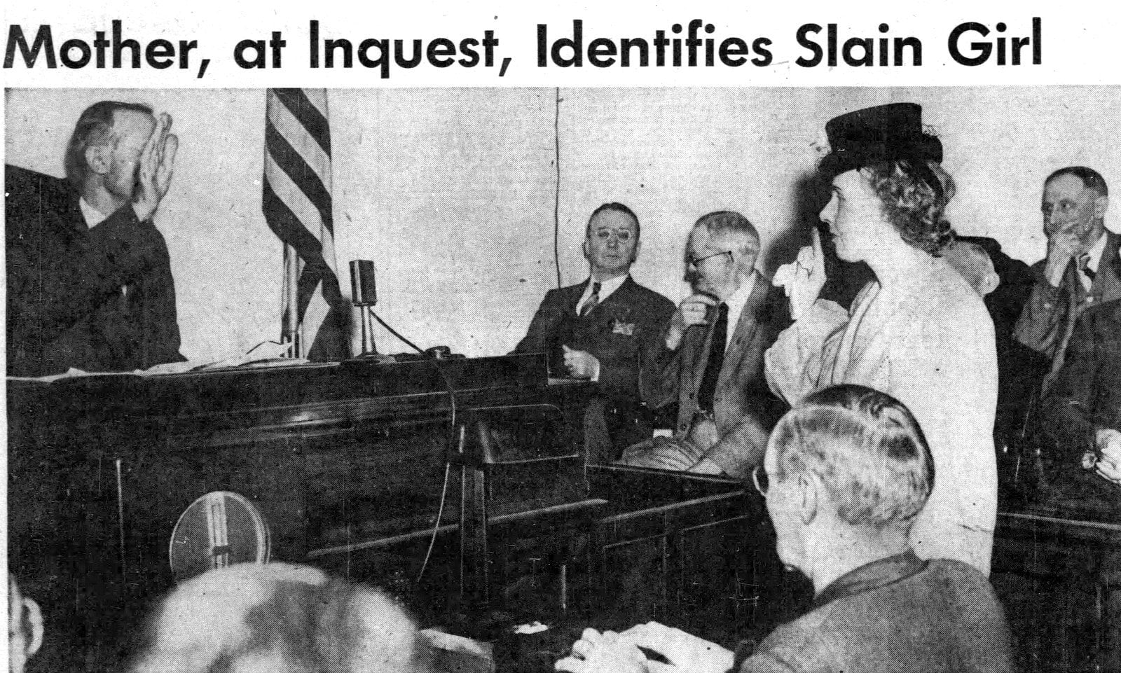 Elizabeth Short's mother identifying her in court - January 23 1947