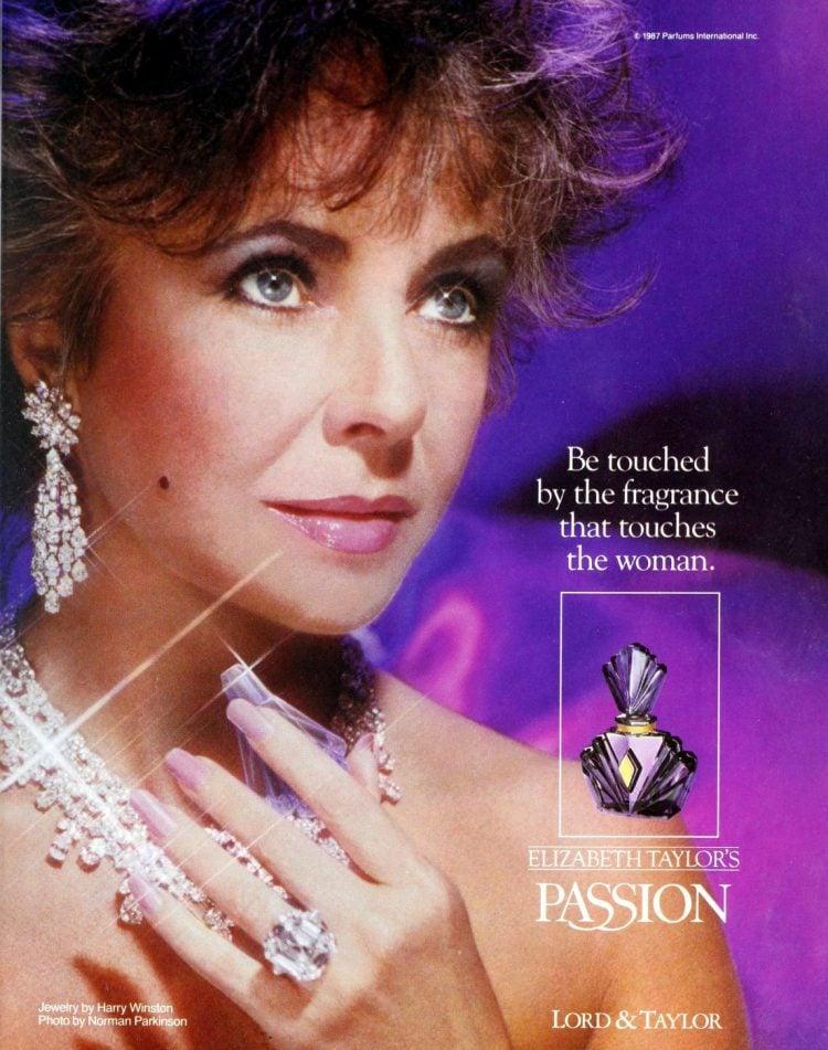 Elizabeth Taylor passion fragrance - 1980s