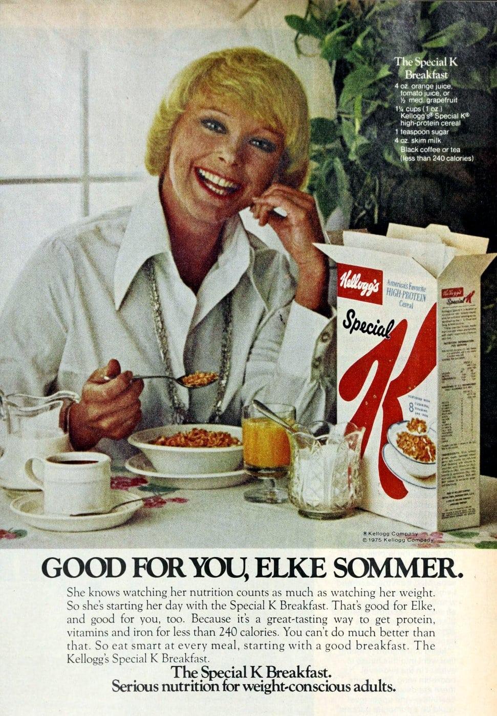 Elke Sommer for Special K Cereal (1976)