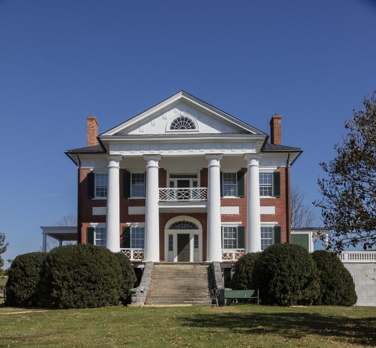 Elmwood Mansion, also known as the Hugh Caperton House, a historic home in Union, West Virginia