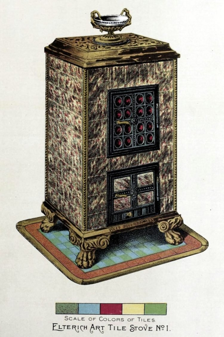 Elterich Art Tile Stoves from 1890 - Victorian home (3)