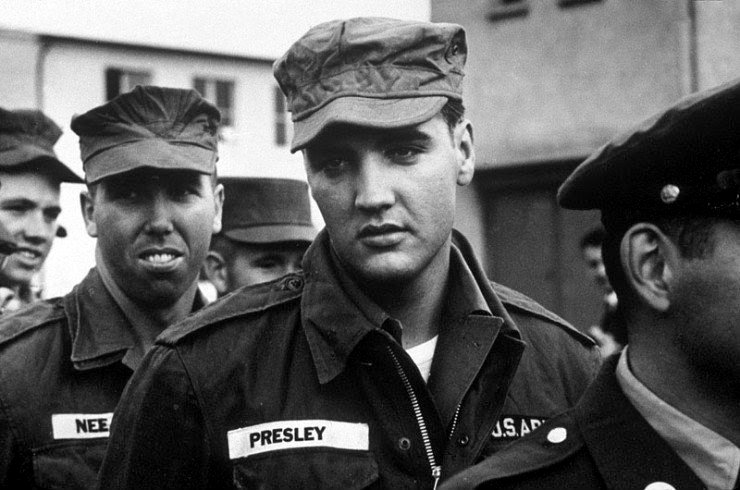Elvis Presley drafted into the US Army (1958)