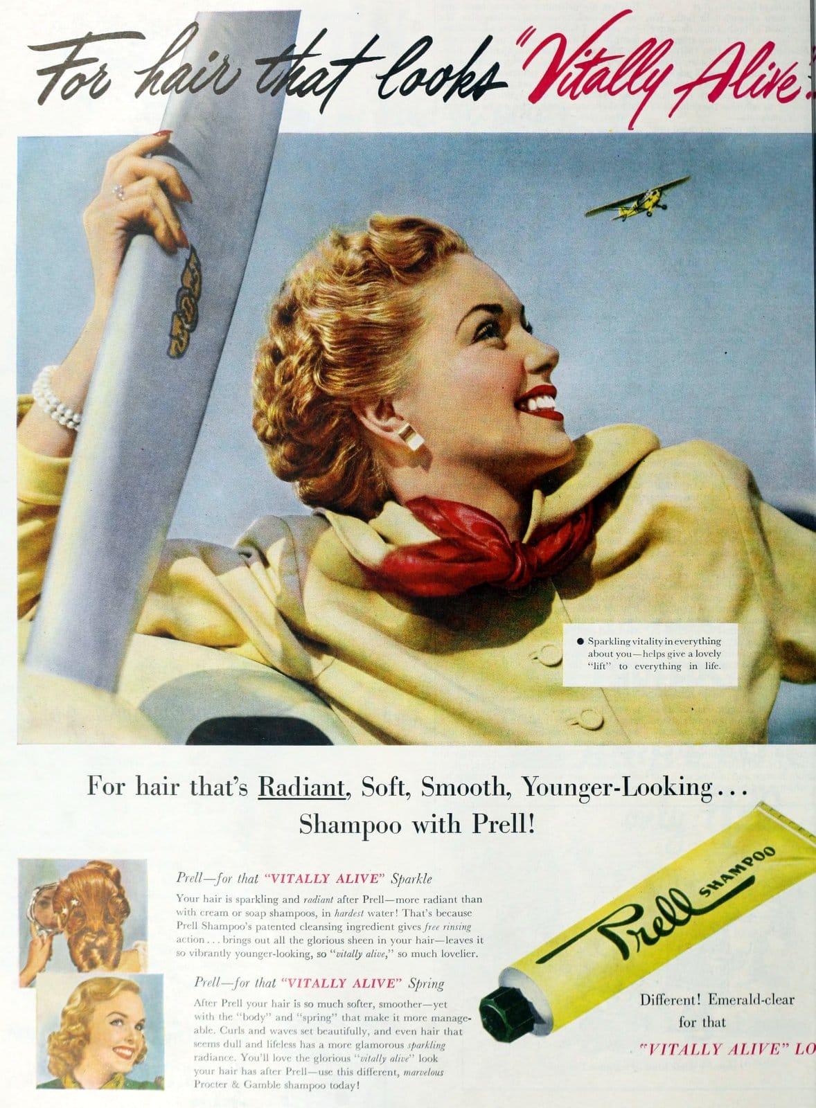Emerald clear Prell shampoo (1950)