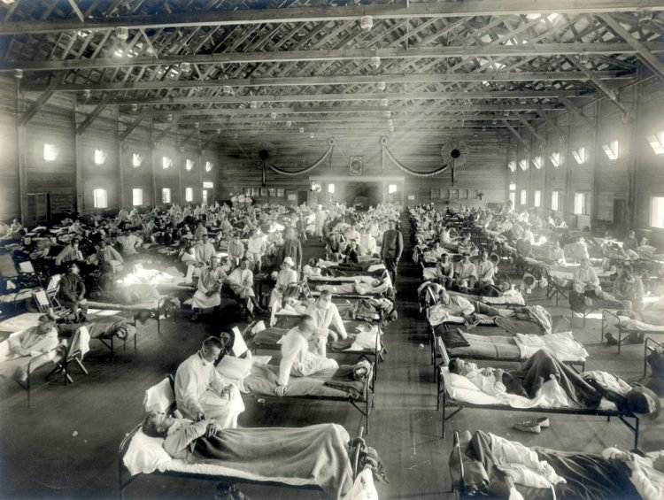 Emergency Hospital during influenza epidemic, Camp Funston, Kansas