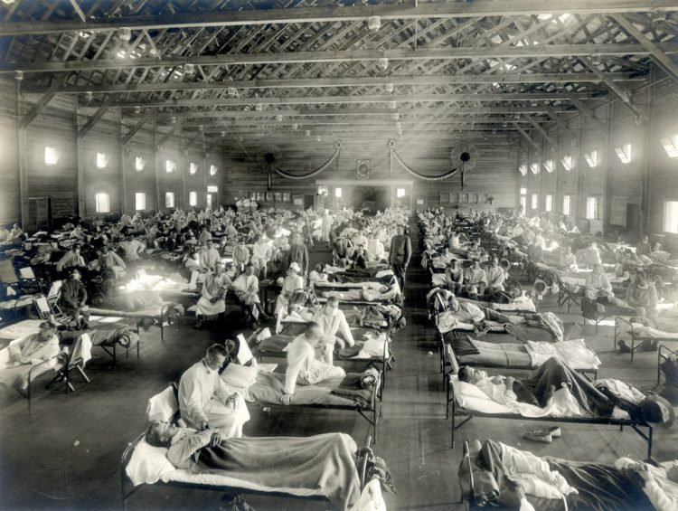 Emergency Hospital during influenza epidemic, Camp Funston, Kansas