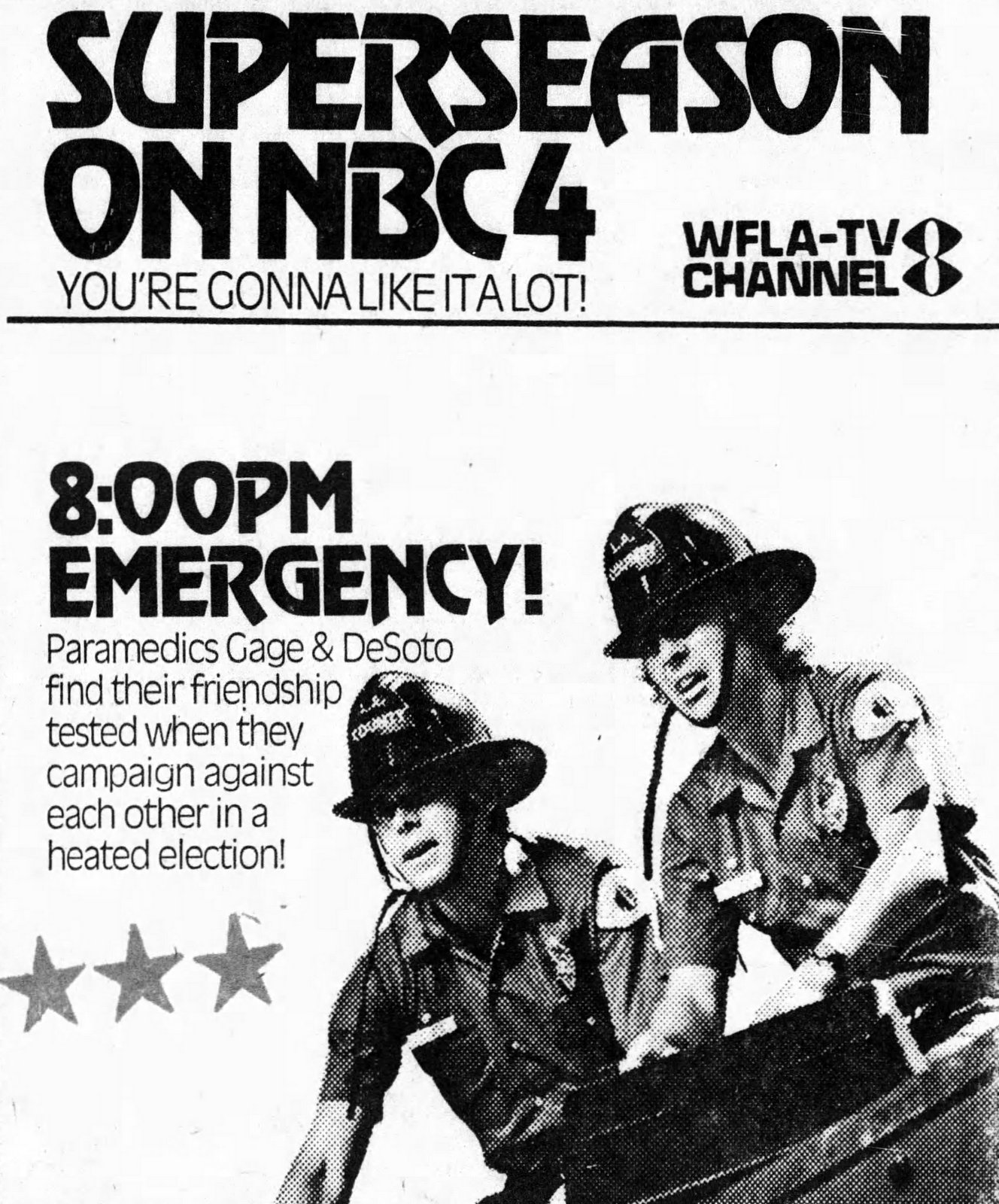 Emergency! TV show ad from 1975