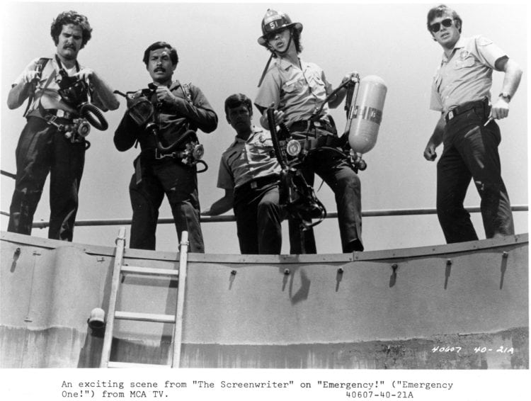 Tim Donnelly, Marco Lopez, Mike Stoker, Randolph Mantooth, and Kevin Tighe. 1974