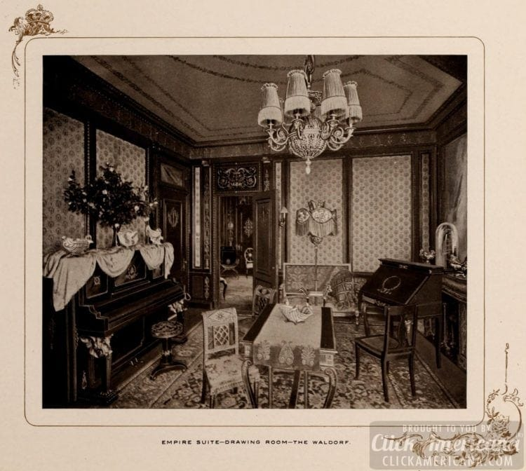 Empire Suite - Drawing room at The Waldorf