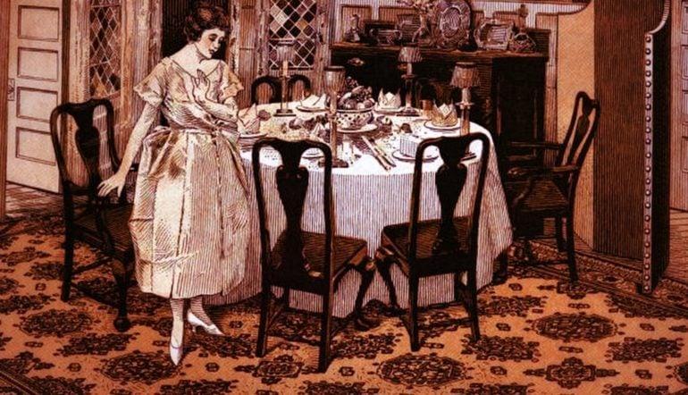 Entertaining your husband's friends for dinner (1912)