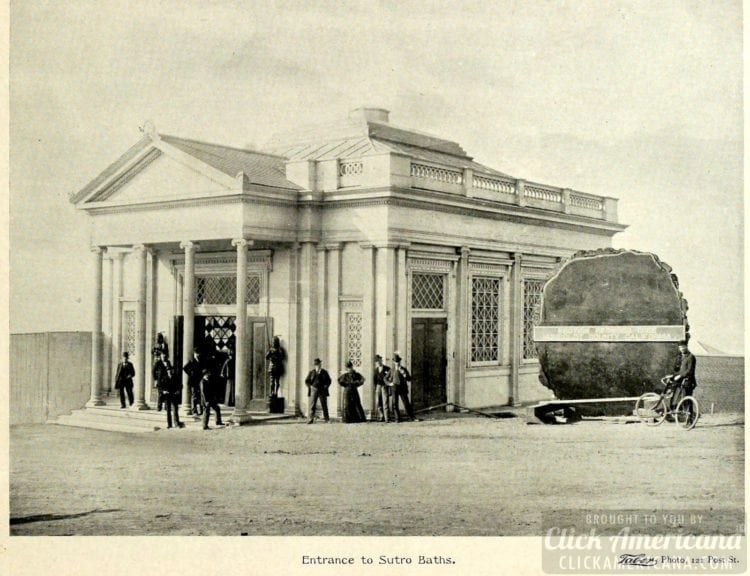 Entrance to the Sutro Baths in San Francisco - 1895