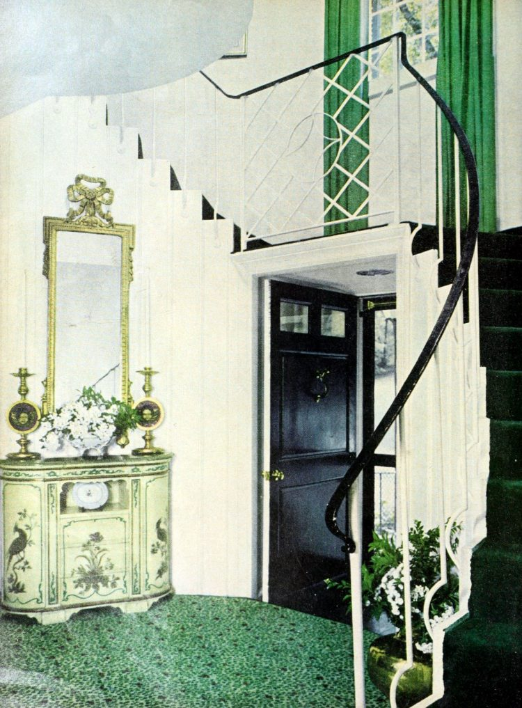 Entryway at the McLean Virginia home of Edward P Morgan (1962)