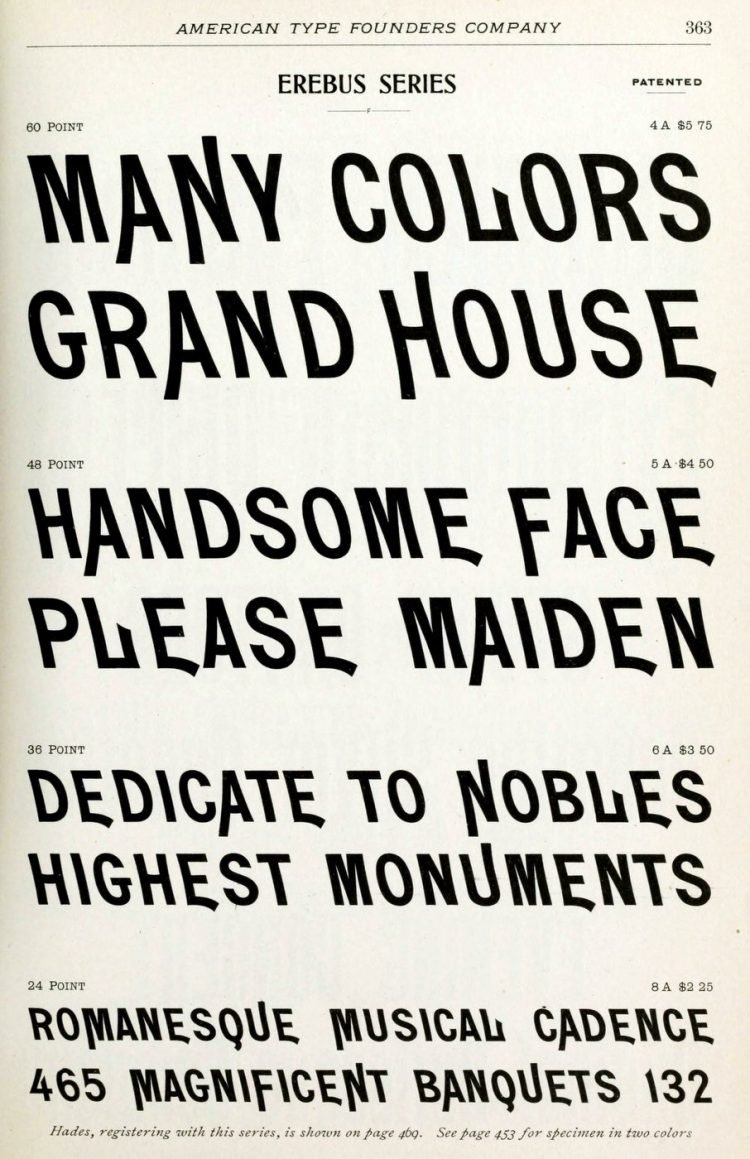 Erebus series typeface - Vintage font styles