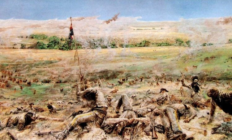 Eric von Schmidt painting - Here Fell Custer