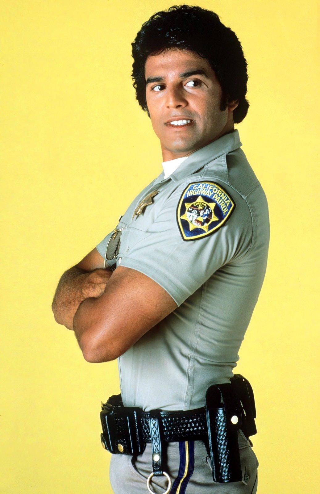 Erik Estrada as CHiPs TV series Officer Francis Ponch Poncherello