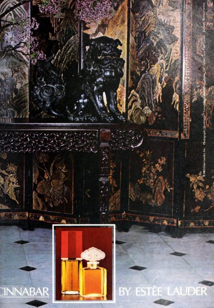 Estee Lauder Cinnabar fragrance from 1983