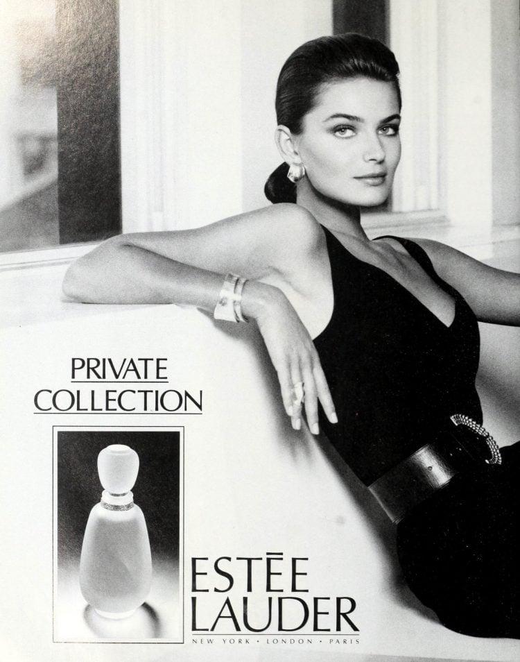 Estee Lauder Private Collection fragrance - with Paulina Porizkova - 1988