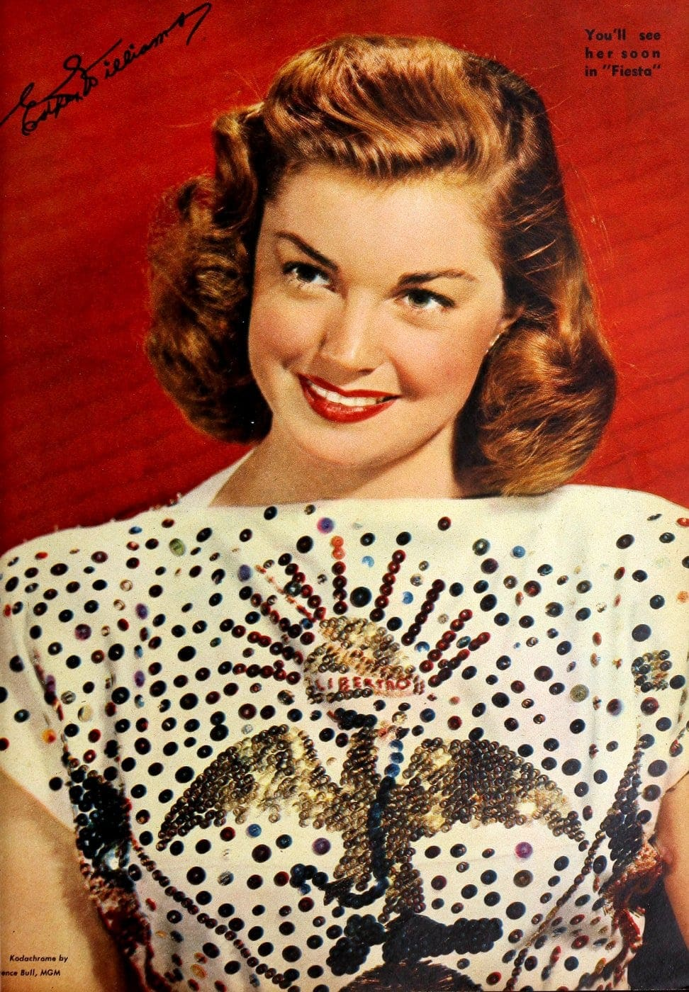 Esther Williams hairstyle from the forties