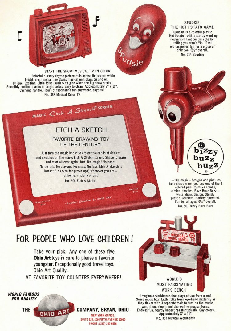 Etch-A-Sketch and vintage toys from Ohio Arts 1967
