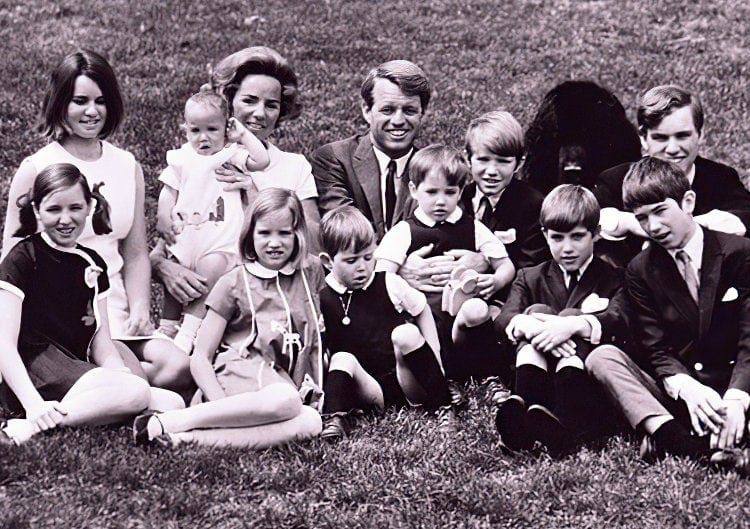 Ethel and Bobby Kennedy family