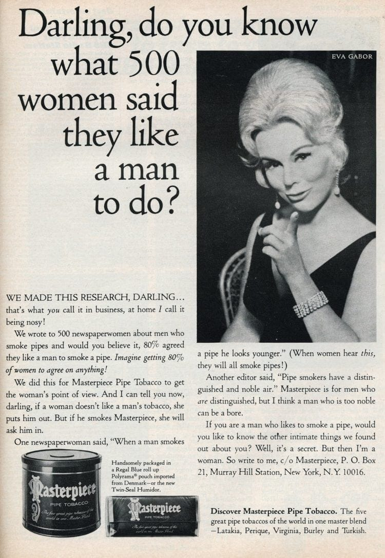 Eva Gabor - What 500 women said they like a man to do