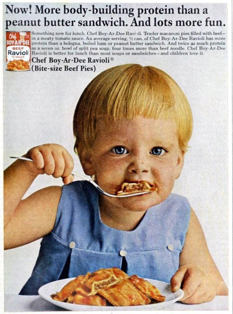 Even babies love Chef Boyardee canned ravioli